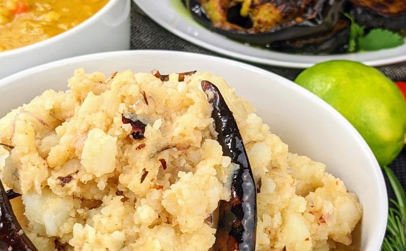 Bangladeshi-Style Aoo Bhorta (spicy mashedpotatoes)