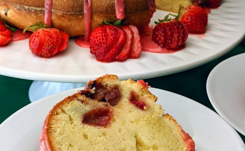 Strawberry Cream Cheese PoundCake